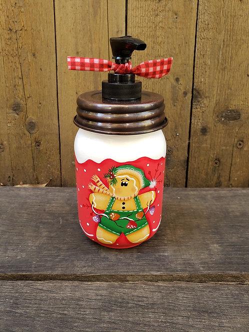 Gingerbread Mason Jar Soap or Lotion Dispenser