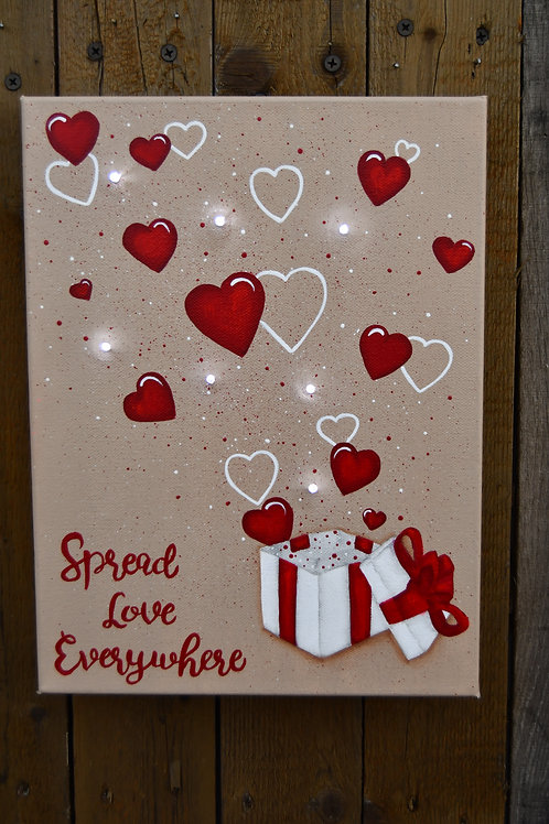 Spread Love Everywhere Lighted Canvas