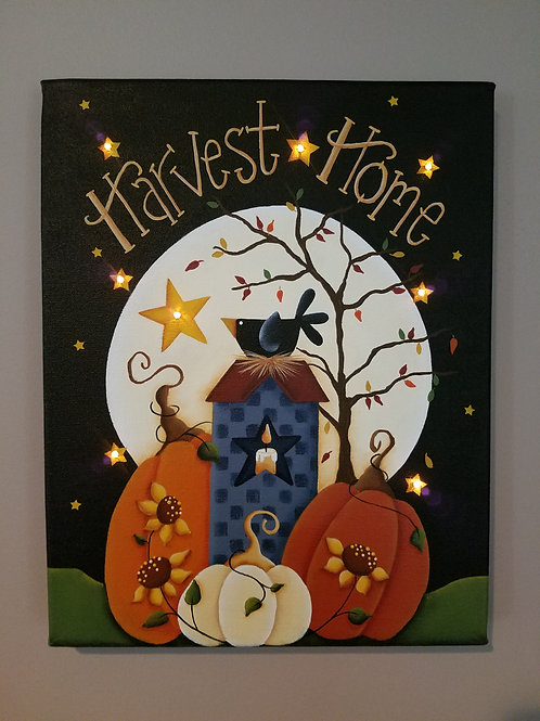 Harvest Home Lighted Canvas