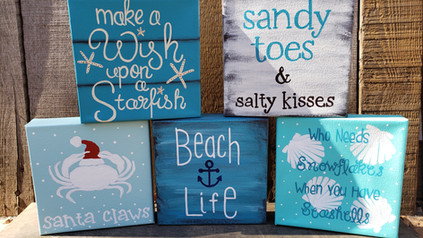 Small Canvas Beach Signs