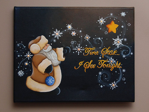 First Star Lighted Canvas