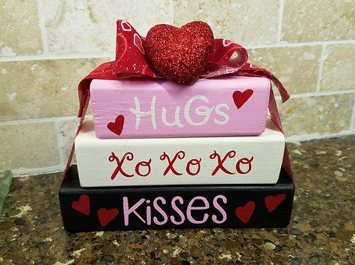 Hugs and Kisses Wood Blocks