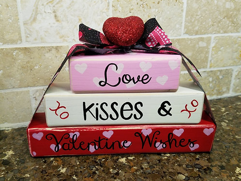 Valentine Wishes Wood Block
