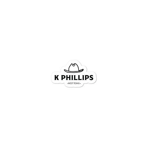 K Phillips Logo Sticker