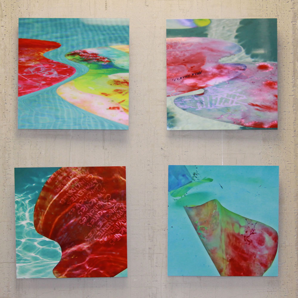 installation of photos of floating horizontals 1
