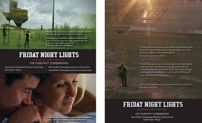 Trade Ads for DirecTVs Friday Night Lights, Final Season