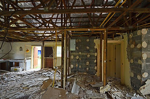 Demolition Interior Old House or Home Sh