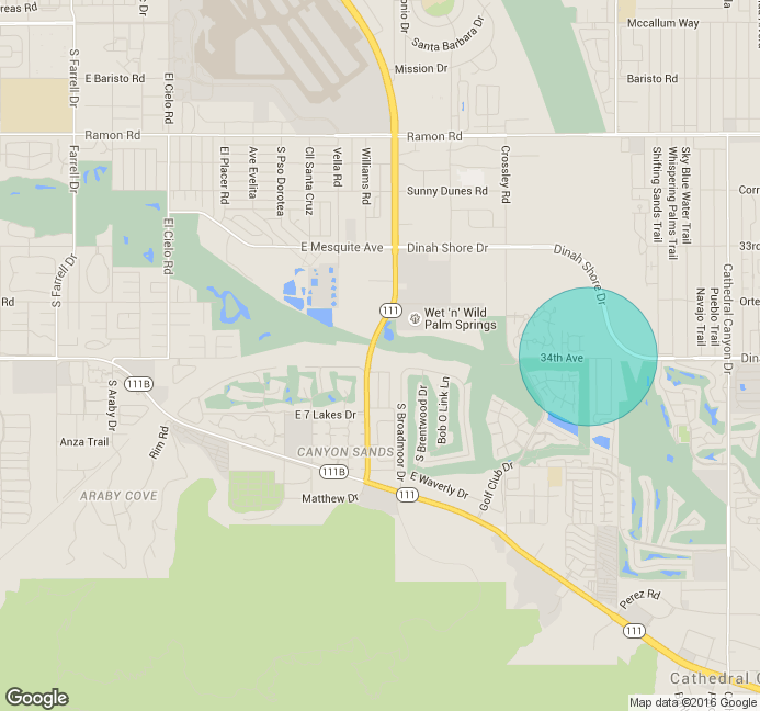 Tahquitz Creek map