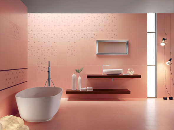 contemporary-pink-bathroom-tile