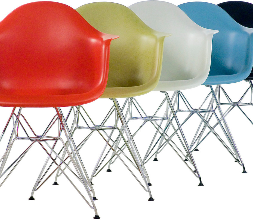 Eames Plastic Armchair wire base colors