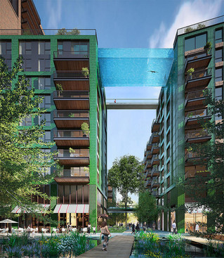 Sky Swimming: Glass-Bottomed Pools in the Air