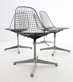 Eames Wire Mesh Chairs