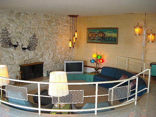 Circular Sunken Living Room