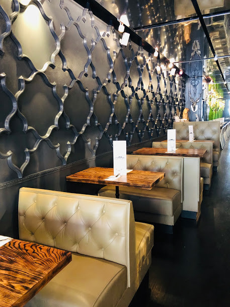 BKK Eatery interior decor with dining couch tables