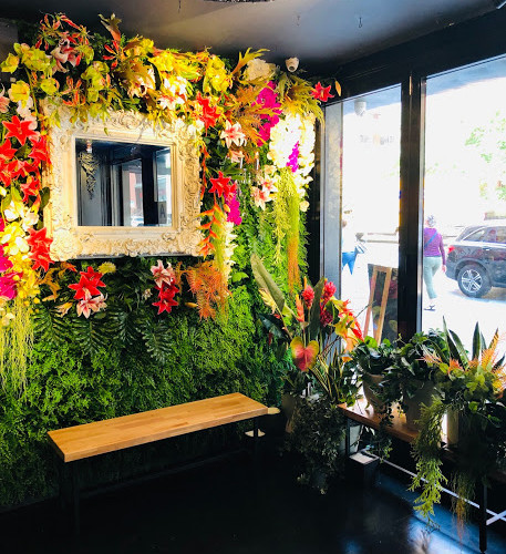 BKK Eatery flower wall and entrance