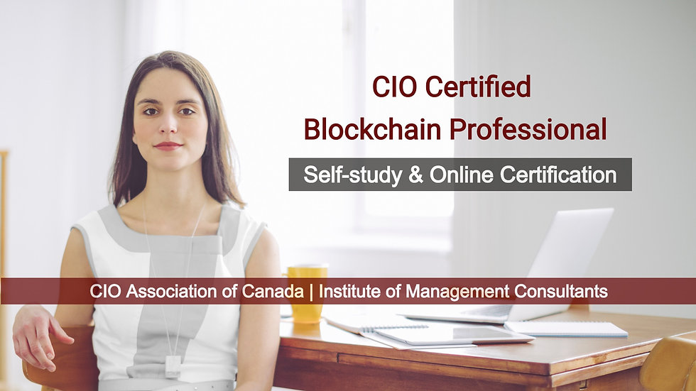 Certification Exam - CIO Certified Blockchain Professional (CCBP)