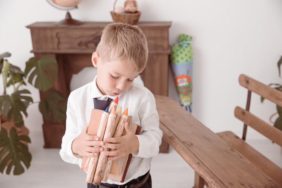 Fotos eines Schulkindes in Erbach