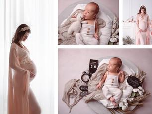 Schwangerschaft , Neugeborene, Familie - zart, pur , natürlich - innige Familienmomente