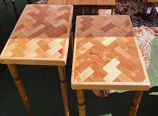 Herringbone Side Tables