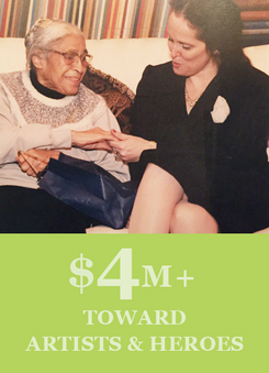 We Have Given $4 Million+ Toward Our Artist & Heroes-In-Residence Programs