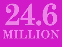 24.6 million people visit DC