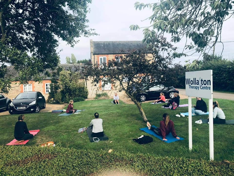 Outdoor Yoga at Wollaston Therapy Centre