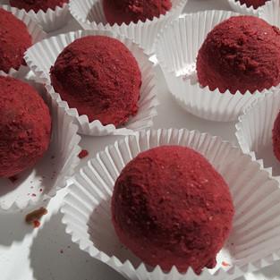 Raspberry Brandy Truffles