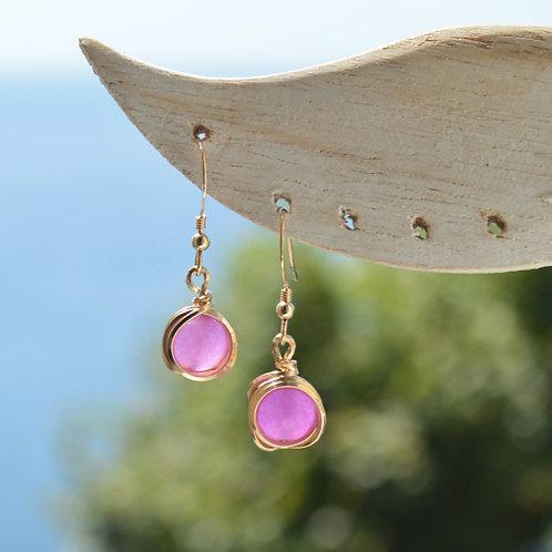 Boucles perles et tissage de fil - OR