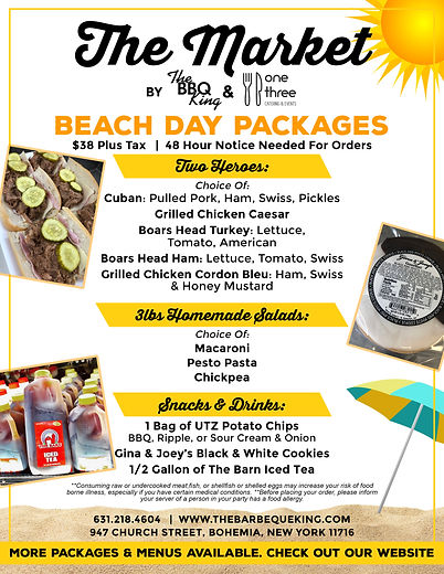 The BBQ King Beach Package