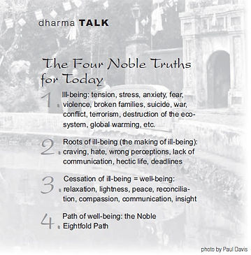 four noble truths for today tnh mind bel