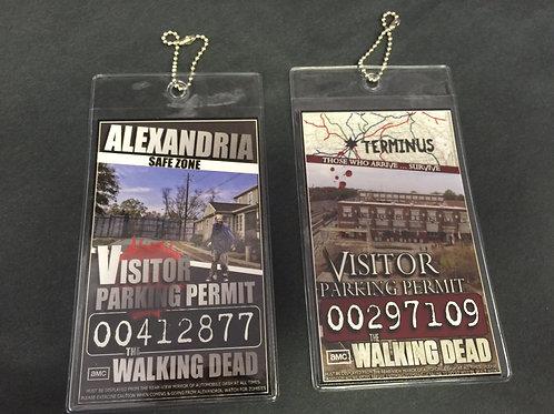 Walking Dead Parking Passes
