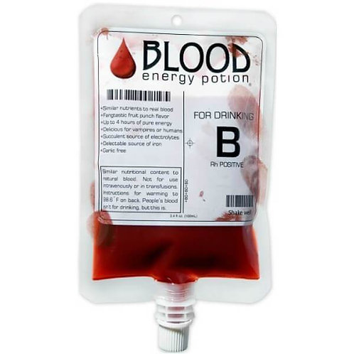 Blood Bags! Energy potion