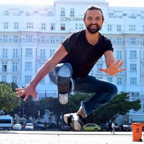 Cesare Vangeli con le claquettes a Rio de Janeiro