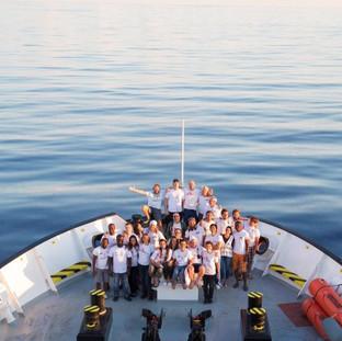 Con l'equipaggio a largo del Mediterraneo