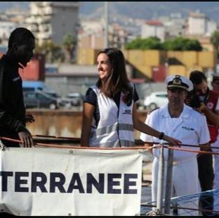 Isabella, Communication Officer sull'Aquarius, durante uno sbarco