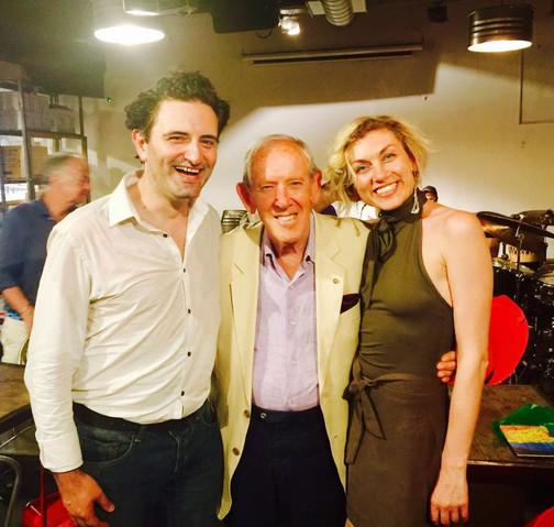 Cesare Vangeli con Enzo Garinei e Cristina Pensiero