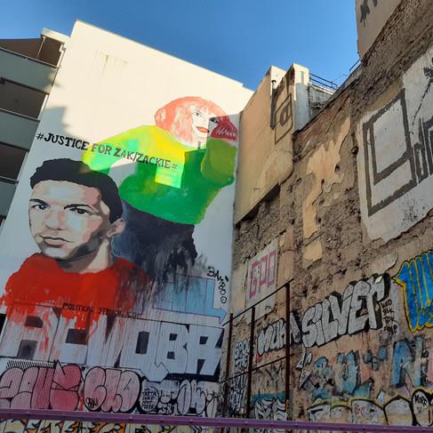 Atene, quartiere Exarchia, graffiti