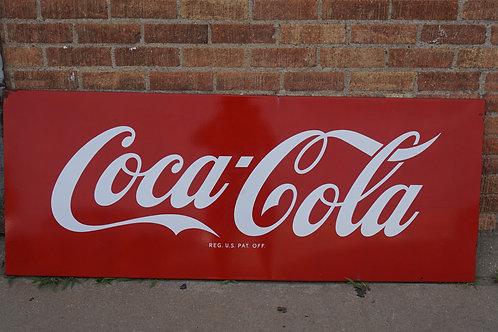 Coca Cola Advertising Sign Ca 1940s - Porcelain