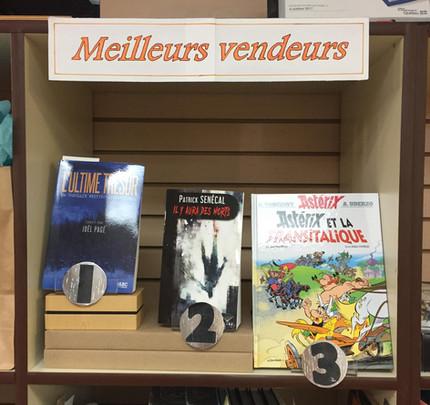 L'Ultime Trésor au sommet des ventes à la Librairie au boulon d'ancrage - Rouyn-Noranda - Décembre 2017