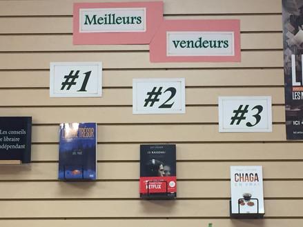 L'Ultime Trésor au sommet des ventes à la Librairie au boulon d'ancrage - Rouyn-Noranda - Juin 2017