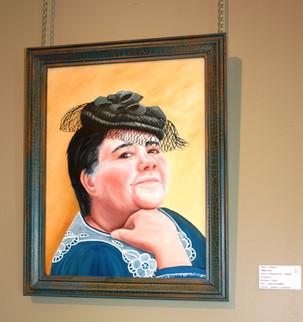 Portrait de Lilaine - Présidente du 100e - Peint par Johanne Laviolette