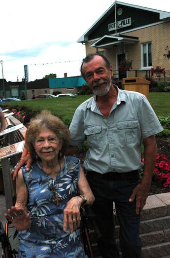 Jim couture et sa mère