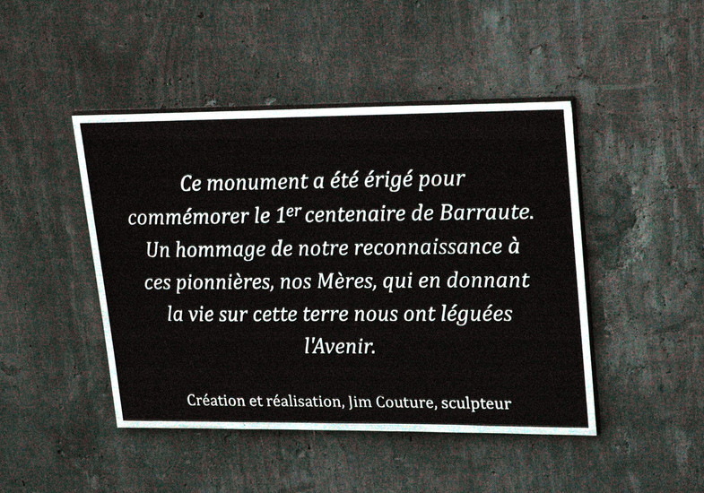 Inauguration de la plaque Jim Couture