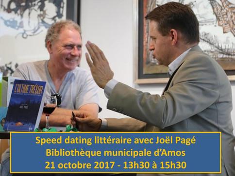 Speed dating littéraire d'Amos - Octobre 2017