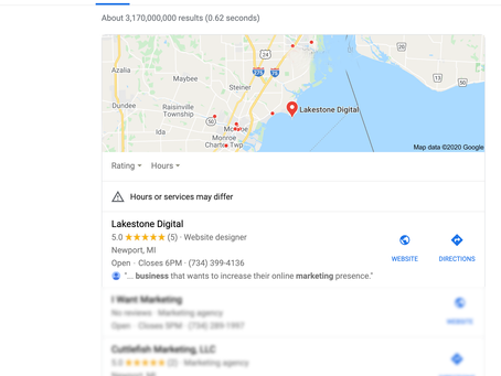 Google's Local Search Three Pack.  What Is It and How Do You Appear In It.