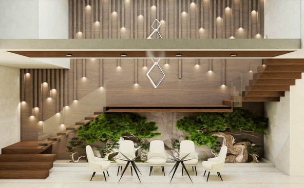 Double Height Dining Room