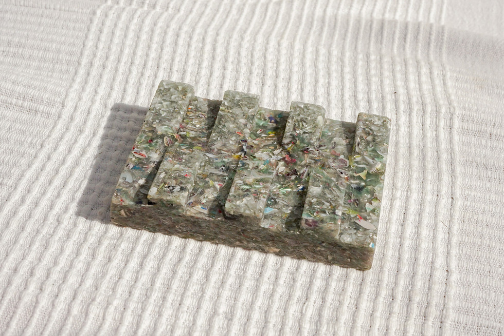 Recycled Plastic CDs Soap dish