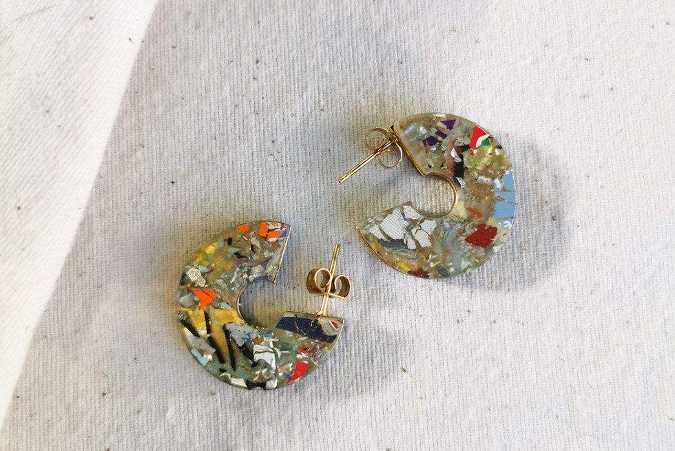Recycled Plastic Earrings, fashion accessories