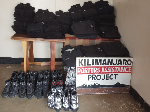 ROB Delivers Mountain Footwear and Clothing to KPAP for Porters on Kilimanjaro