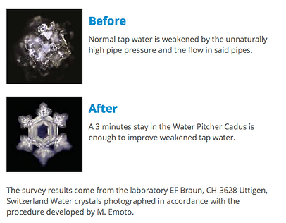 Before and After water molecule